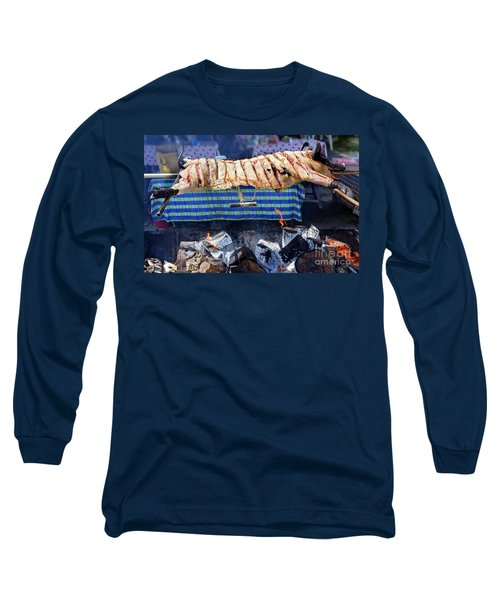 Long Sleeve T-Shirt featuring the photograph Native Barbecue In Taiwan by Yali Shi