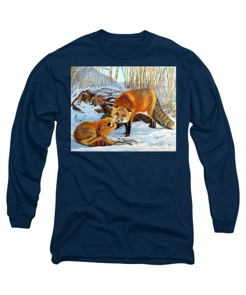 Natures Submission Long Sleeve T-Shirt by Marilyn McNish