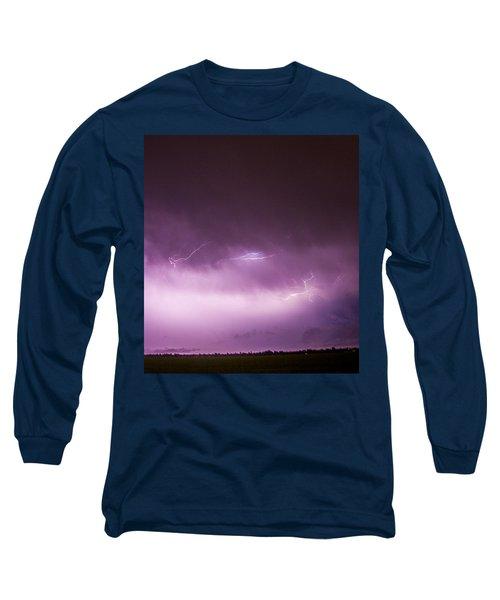 Nebraska Night Thunderstorms 013 Long Sleeve T-Shirt