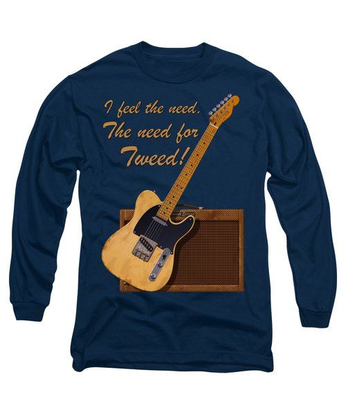 Need For Tweed Tele T Shirt Long Sleeve T-Shirt by WB Johnston