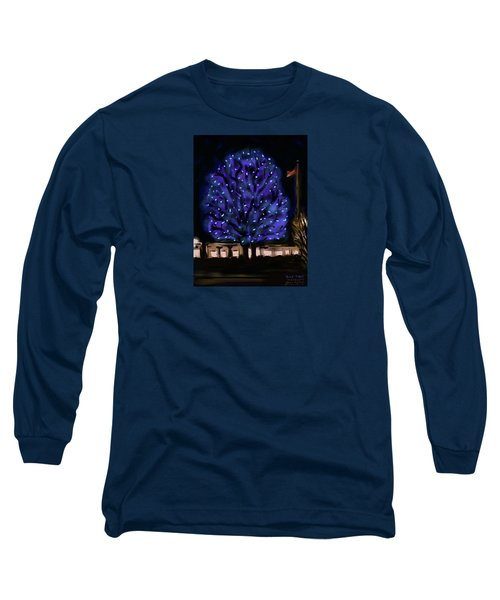 Needham's Blue Tree Long Sleeve T-Shirt