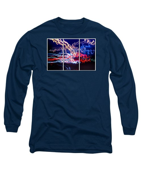Neon Ufa Triptych Number 1 Long Sleeve T-Shirt by John Williams
