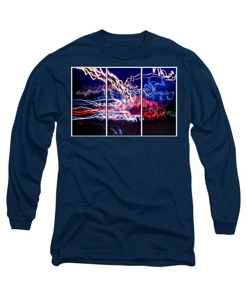 Neon Ufa Triptych Number 1 Long Sleeve T-Shirt