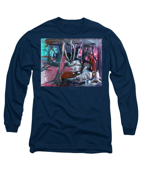 Long Sleeve T-Shirt featuring the painting Never Dark In The Forest by Betty Pieper