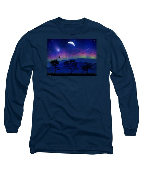 Long Sleeve T-Shirt featuring the photograph Neverending Nights by Bernd Hau