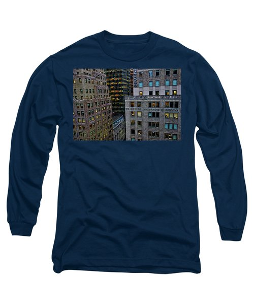 New York Windows Long Sleeve T-Shirt by Joan Reese