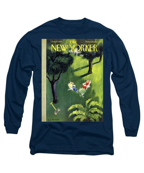 New Yorker August 12 1950 Long Sleeve T-Shirt