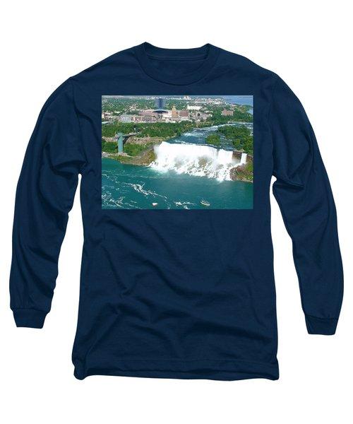 Niagara American And Bridal Veil Falls  Long Sleeve T-Shirt