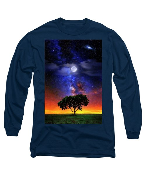 Night Colors Long Sleeve T-Shirt by Justin Kelefas