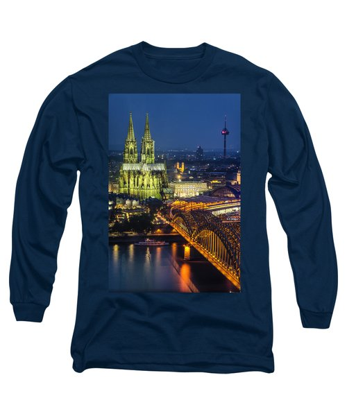 Night Falls Upon Cologne 1 Long Sleeve T-Shirt