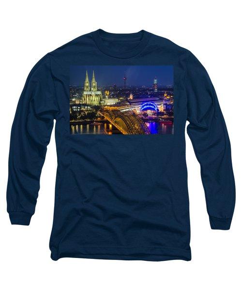 Night Falls Upon Cologne 2 Long Sleeve T-Shirt