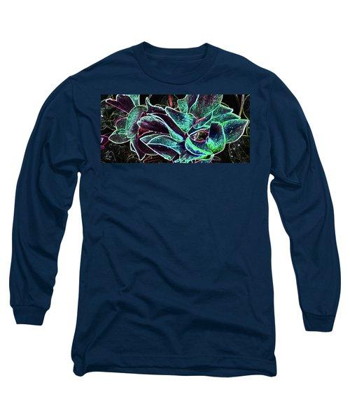 Night Glamour Long Sleeve T-Shirt by Nareeta Martin
