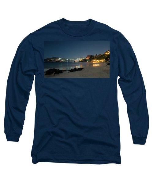Long Sleeve T-Shirt featuring the photograph Night Walk On La Ropa by Jim Walls PhotoArtist