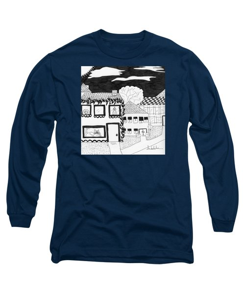 Long Sleeve T-Shirt featuring the painting Night Watch by Lou Belcher