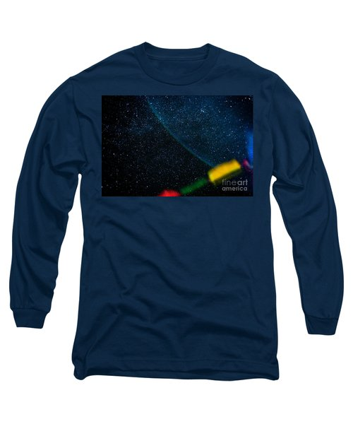 Nightscape Stars In Himalayan Mountain Long Sleeve T-Shirt
