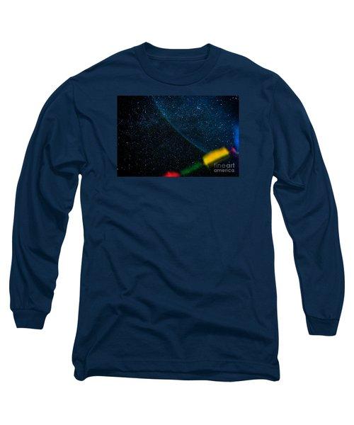 Nightscape Stars In Himalayan Mountain Long Sleeve T-Shirt