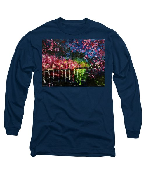 Nighttime Pink Long Sleeve T-Shirt