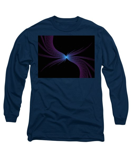 Long Sleeve T-Shirt featuring the digital art Nightwing by Lea Wiggins
