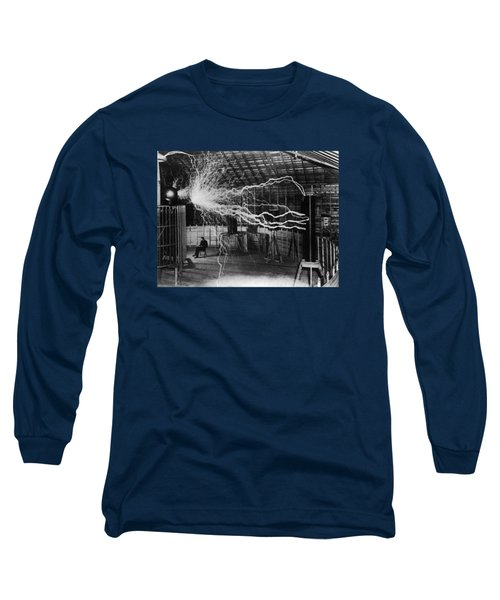 Nikola Tesla - Bolts Of Electricity Long Sleeve T-Shirt