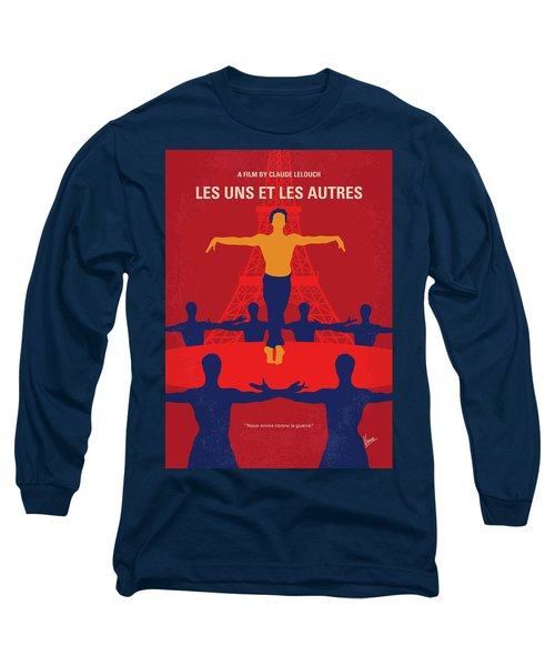 Long Sleeve T-Shirt featuring the digital art No771 My Les Uns Et Les Autres Minimal Movie Poster by Chungkong Art
