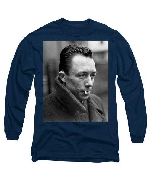 Nobel Prize Winning Writer Albert Camus Unknown Date #1 -2015 Long Sleeve T-Shirt by David Lee Guss
