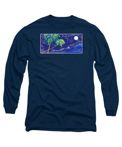 Long Sleeve T-Shirt featuring the painting Noche Tropical by The Art of Alice Terrill
