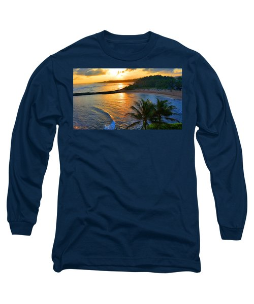 North Shore Of Oahu  Long Sleeve T-Shirt by Michael Rucker