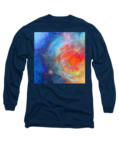 Fantasies In Space Series Painting. Nova Concerto. Acrylic Painting. Long Sleeve T-Shirt