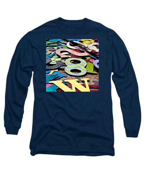 Number 8 Long Sleeve T-Shirt by Art Block Collections