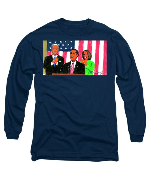Obama's State Of The Union '10 Long Sleeve T-Shirt by Candace Lovely