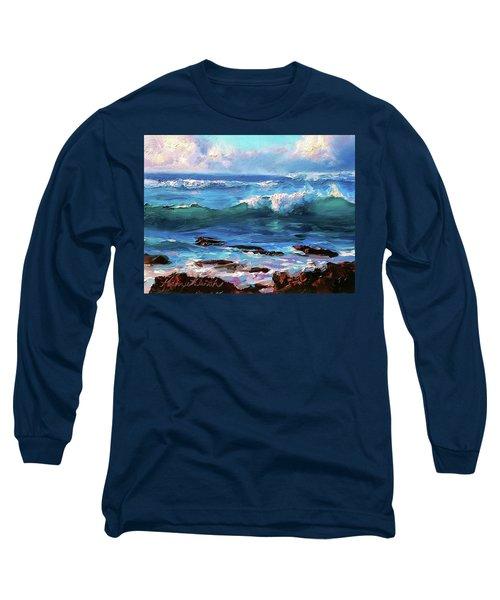 Ocean Sunset At Turtle Bay, Oahu Hawaii Long Sleeve T-Shirt