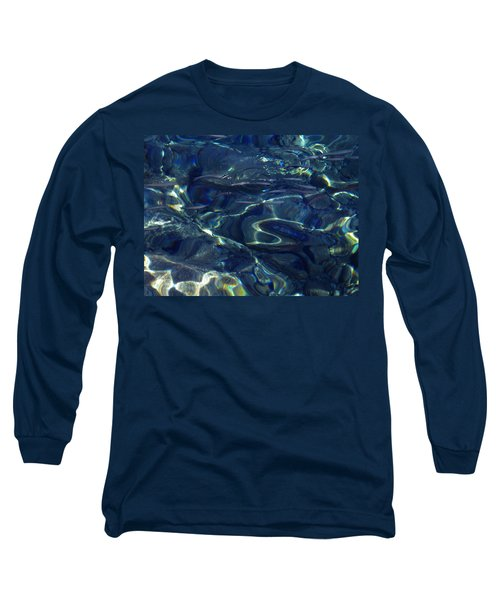 Long Sleeve T-Shirt featuring the photograph Ocean Water Reflections.santorini Island Greece by Colette V Hera  Guggenheim