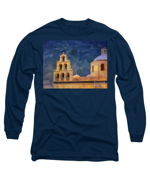 Long Sleeve T-Shirt featuring the photograph Oia Sunset Imagined by Lois Bryan
