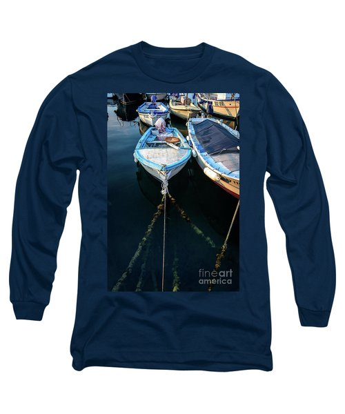 Old Fishing Boats Of The Adriatic Long Sleeve T-Shirt