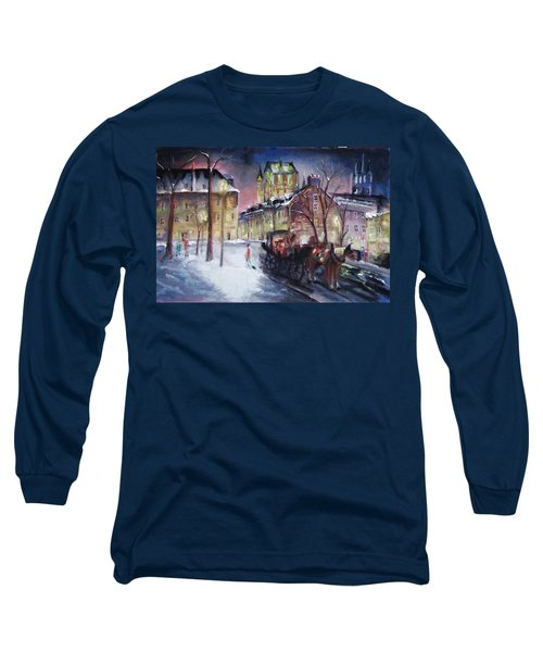 old Quebec Long Sleeve T-Shirt by Peter Suhocke