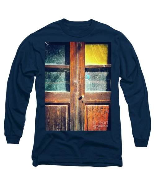 Long Sleeve T-Shirt featuring the photograph Old Rotten Door by Silvia Ganora