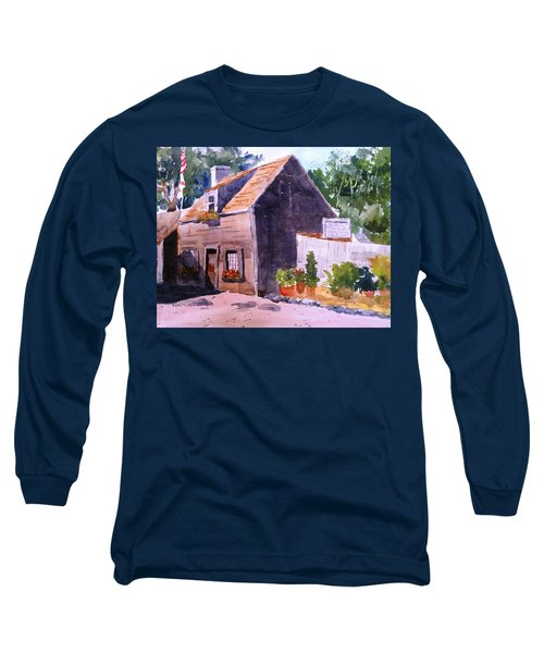 Old Wooden School House Long Sleeve T-Shirt by Larry Hamilton