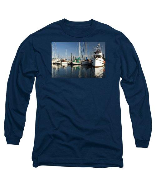 Olympia Marina Long Sleeve T-Shirt by Chuck Flewelling