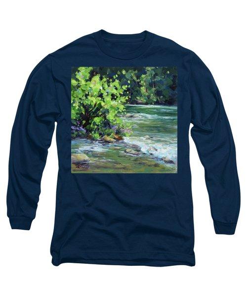 On The River Long Sleeve T-Shirt by Karen Ilari