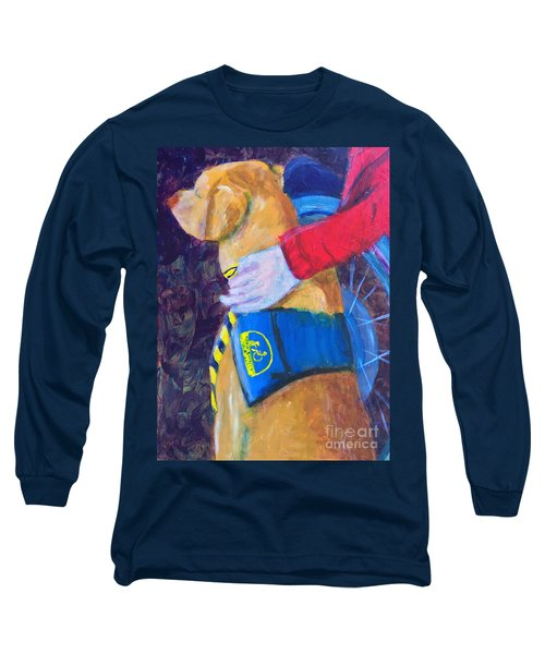 Long Sleeve T-Shirt featuring the painting One Team Two Heroes 3 by Donald J Ryker III