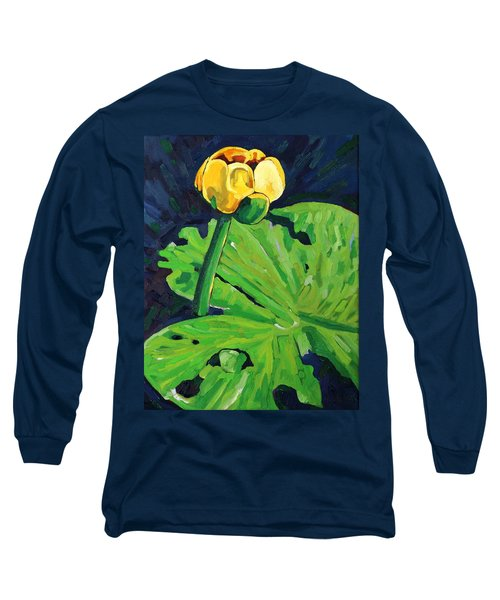 One Yellow Lily Long Sleeve T-Shirt