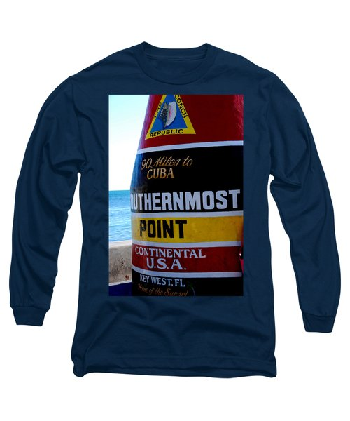 Only 90 Miles To Cuba Long Sleeve T-Shirt by Susanne Van Hulst