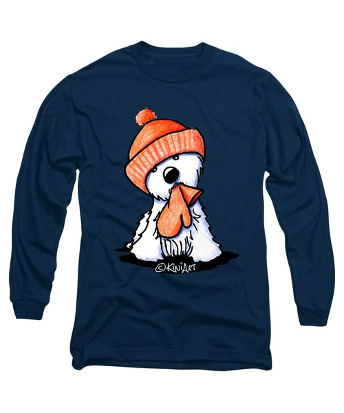 Orange Winter Westie Long Sleeve T-Shirt