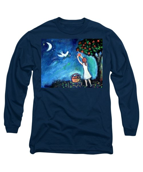 Long Sleeve T-Shirt featuring the painting Oranges Song by Winsome Gunning