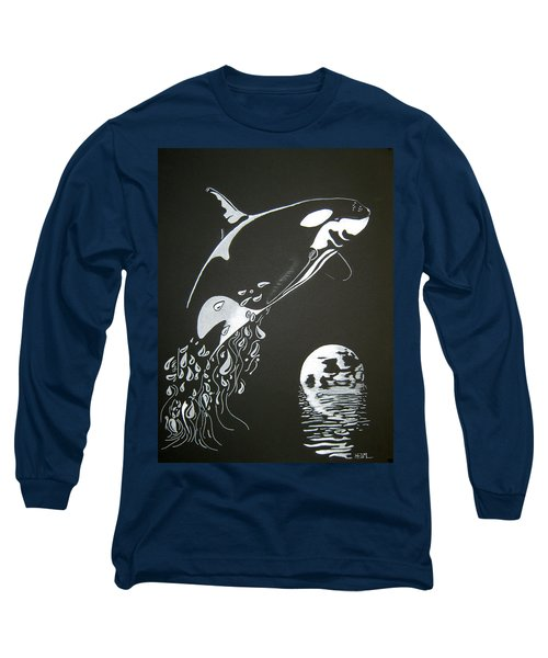 Orca Sillhouette Long Sleeve T-Shirt