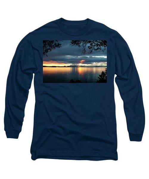 Orcas Island Sunset Long Sleeve T-Shirt