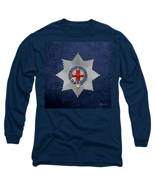 Order Of The Garter Star On Blue  Long Sleeve T-Shirt