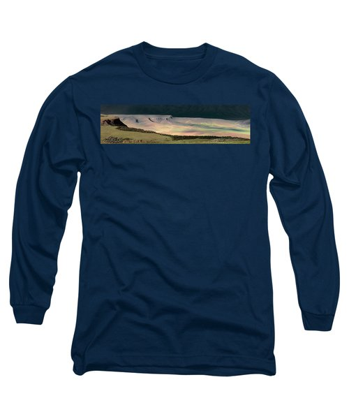 Long Sleeve T-Shirt featuring the photograph Oregon Canyon Mountain Layers by Leland D Howard