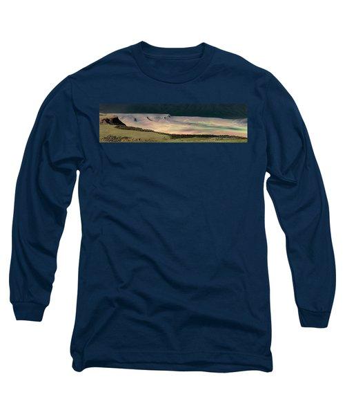 Oregon Canyon Mountain Layers Long Sleeve T-Shirt by Leland D Howard