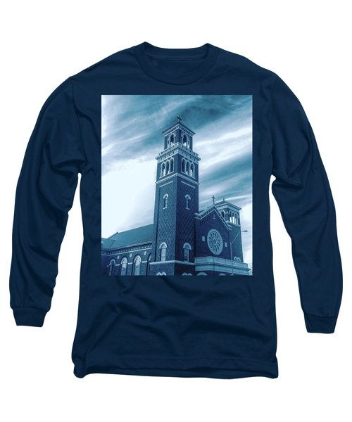 Our Lady Of Sorrows Under Wispy Skies Long Sleeve T-Shirt